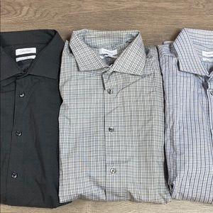 Calvin Klein Dress Shirt Lot NEW 17-17.5 34/35